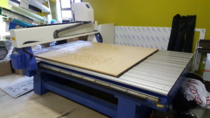 sakiprint invests in a new cnc letter cutting machine branding