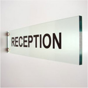 Perspex Reception Sign