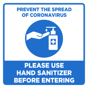 Use Hand Sanitiser ABS Signs